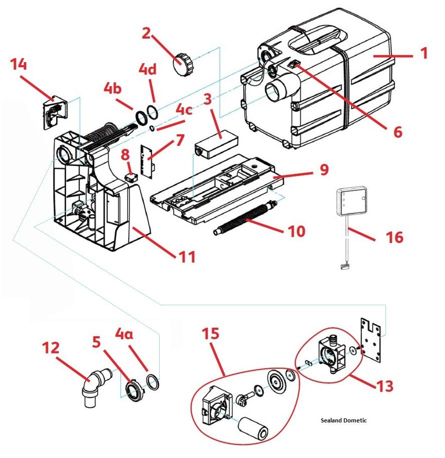 Enjoyable Dometic Sealand Vt 2510 Vacuum Cassette Spare Parts Wiring Database Denligelartorg