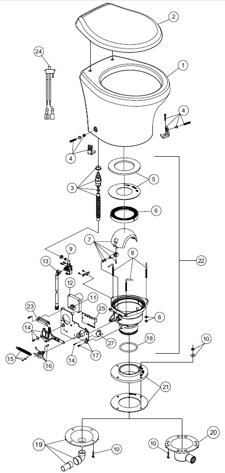 Sealand    Dometic    Vacuflush 4806 Spare Parts