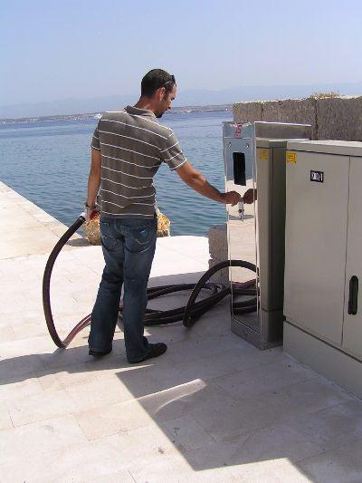 Man using pump