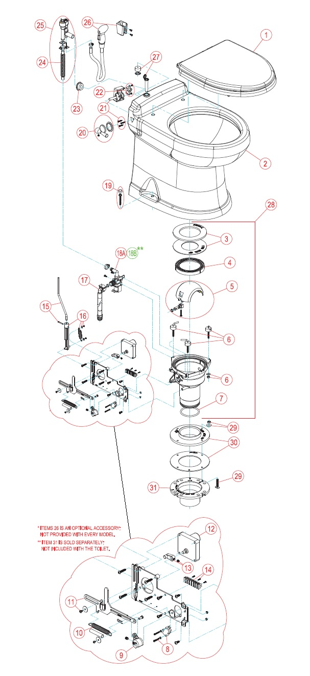 Fabulous Sealand Dometic 4300 Gravity Toilet Spare Parts Pdpeps Interior Chair Design Pdpepsorg