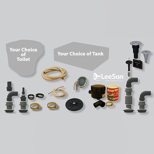 LeeSan Headmaster Toilet and Tank Package - 75 Gallon - Standard Height