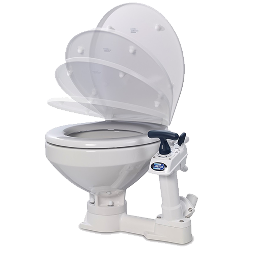 Jabsco PAR Manual Twist and Lock Toilet, Slow Close Seat and Lid