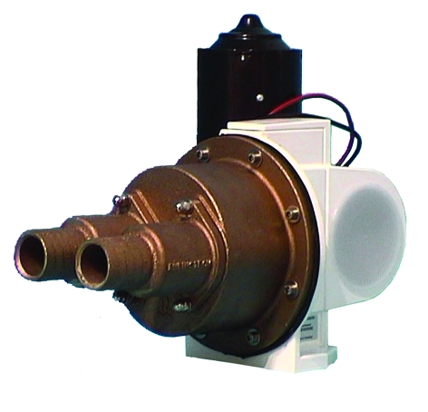 Rheinstrom M Pump, Bronze Body With Straight Tails, 12v or 24v DC