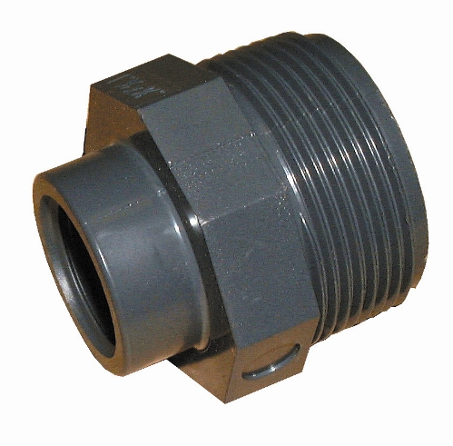 "1 ½"" BSP Male to ¾"" BSP Female PVC Adaptor"