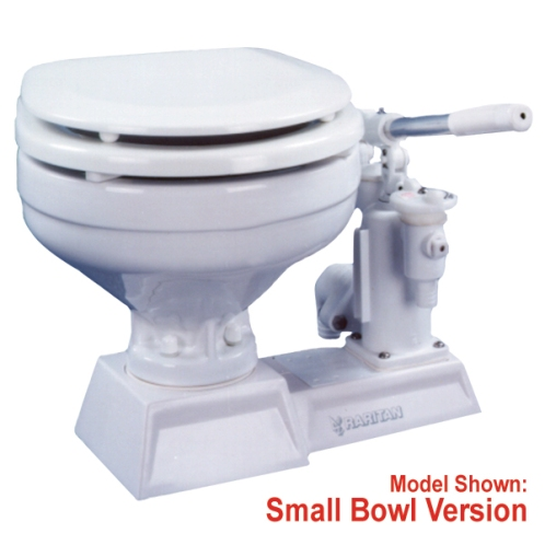 Raritan PHII Manual Toilet, Small and Large Bowl, White