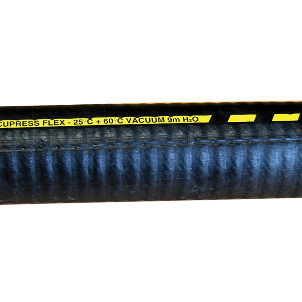 "Suction & Delivery Hose, 3"", Reinforced Black Rubber"