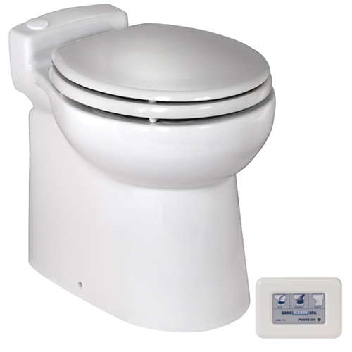 SaniMarin C48 Toilet and Tank Package - 75 Gallon
