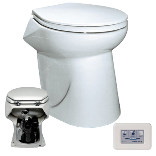SaniMarin SN35 Toilet and Tank Package - 75 Gallon