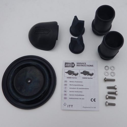 Leesan Self Pump Out/Jabsco Waste Diaphragm Pump Service Kit, SK890