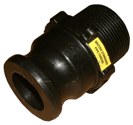 "1 ½"" BSP Male - Male Camlock Connector,"