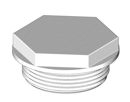 "Tru Design Aquavalve Plug 90237, 1 ½"", White"