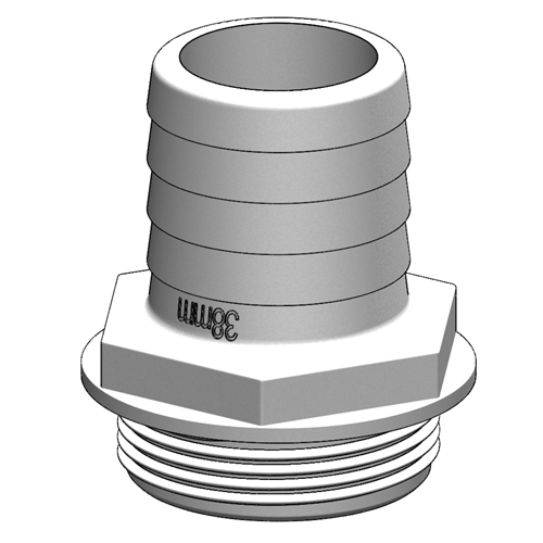 "Tru Design Aquavalve Tail 90294, 1 ½"", White"