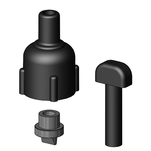 Tru Design Vented Loop Spare Parts, Black, 90324