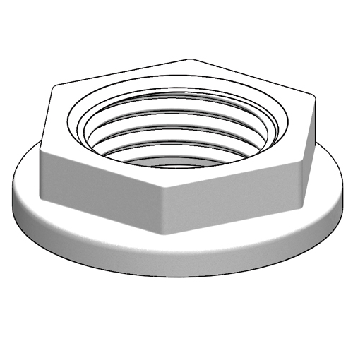 "Tru Design Backing Nut,90482  ¾"" BSP, White"