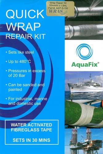 Aquafix Wrap Repair Kit, 75mm x 2.75m